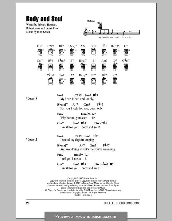 Body and Soul: para ukulele by John W. Green