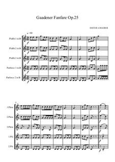 Gaadener Fanfare, Op.25: Gaadener Fanfare by Dieter Angerer