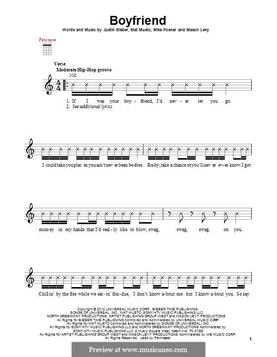 Boyfriend: para ukulele by Justin Bieber, Mason Levy, Mike Posner, Matthew Musto