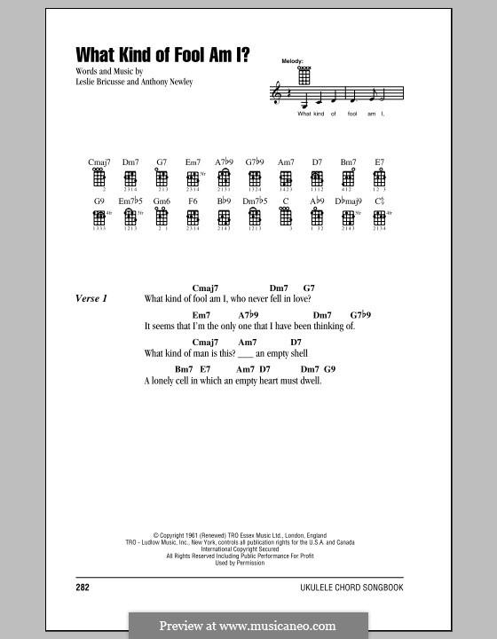 What Kind of Fool am I: para ukulele by Anthony Newley, Leslie Bricusse