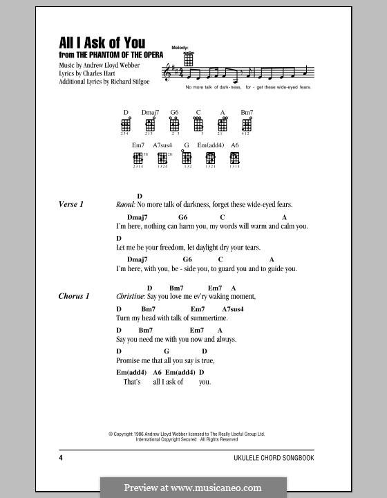 All I Ask of You: para ukulele by Andrew Lloyd Webber