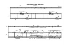 2 Sonatinas for Alto violin and piano: Sonatina No.1, MVWV 493 by Maurice Verheul