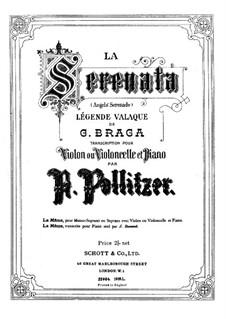 Angel's Serenade (Légende Valaque): para violino (ou violoncelo) e piano by Gaetano Braga
