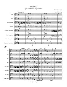 Gopak: For wind and sax quartets by Modest Mussorgsky
