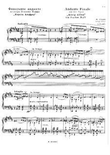 King Alfred, WoO.14: Andante Finale for piano by Joseph Joachim Raff