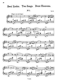 Zwei Lieder, Op.92: Zwei Lieder by Theodor Kullak