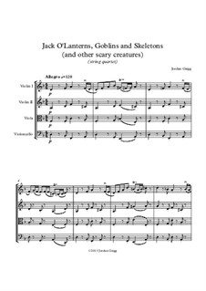 Jack O'Lanterns, Goblins and Skeletons (and other scary creatures): Quarteto de cordas by Jordan Grigg