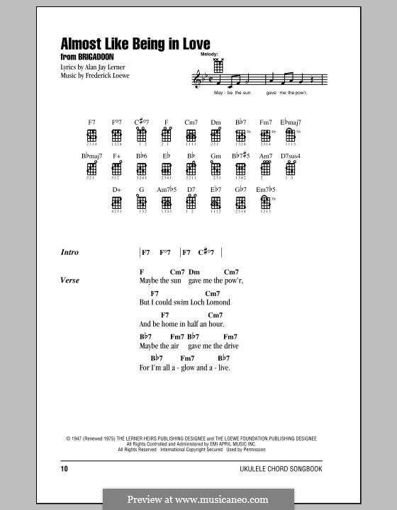 Almost Like Being in Love: para ukulele by Frederick Loewe
