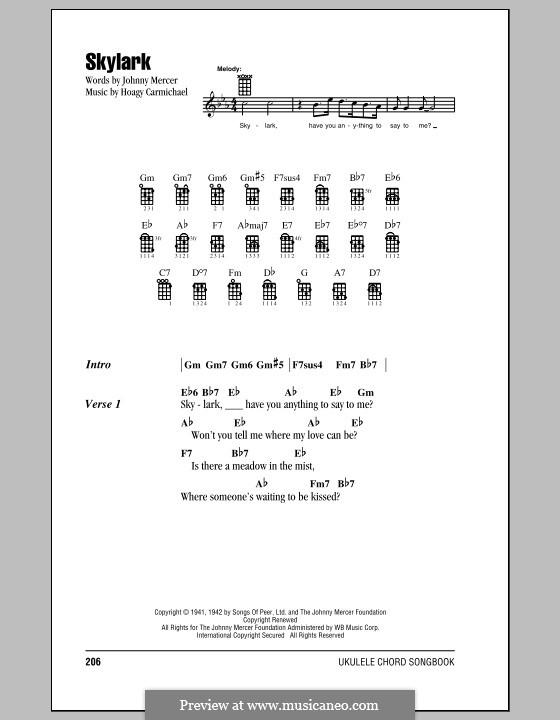 Skylark: para ukulele by Hoagy Carmichael