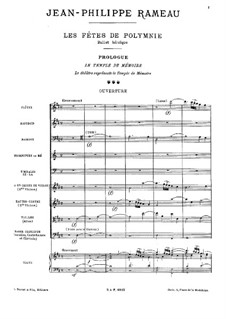 Les fêtes de Polymnie (The Festivals of Polyhymnia), RCT 39: abertura by Jean-Philippe Rameau
