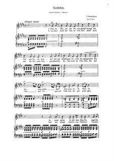 Six Songs, Op.57: No.3 Suleika by Felix Mendelssohn-Bartholdy