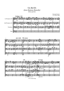 Madama Butterfly : Un bel dí, for brass quartet by Giacomo Puccini