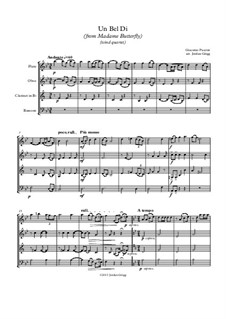 Madama Butterfly : Un bel dí, for wind quartet by Giacomo Puccini