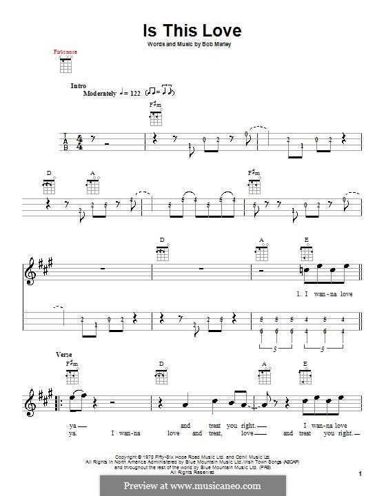 Is This Love: para ukulele by Bob Marley