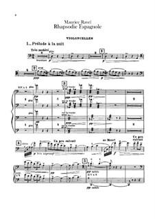 Rapsodie espagnole, M.54: parte violoncelo by Maurice Ravel