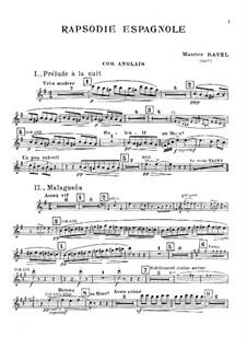 Rapsodie espagnole, M.54: Cor anglais part by Maurice Ravel