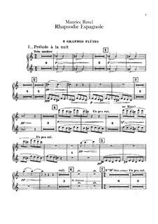 Rapsodie espagnole, M.54: parte de flautas by Maurice Ravel