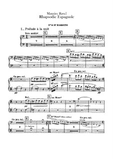 Rapsodie espagnole, M.54: Bassoons and sarrusophone parts by Maurice Ravel