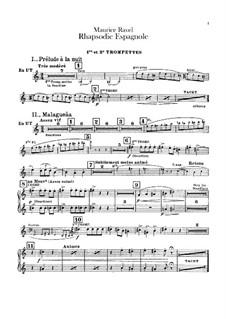 Rapsodie espagnole, M.54: parte trompetas by Maurice Ravel