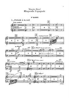Rapsodie espagnole, M.54: parte harpas by Maurice Ravel