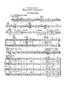 Rapsodie espagnole, M.54: Double basses parts by Maurice Ravel