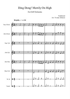 Ding Dong! Merrily on High: For orff orchestra by folklore