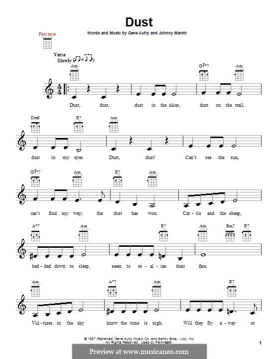 Dust: para ukulele by Johnny Marvin