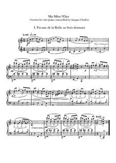Ma mère l'oye (Mother Goose). Suite, M.60: Para Piano by Maurice Ravel