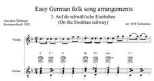 Auf de Schwäb'sche Eisebahne: For violin and guitar by folklore