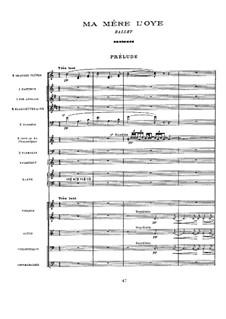Ma mère l'oye (Mother Goose). Ballet, M.62: Ma mère l'oye (Mother Goose). Ballet by Maurice Ravel