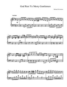 God, Rest Ye Merry Gentlemen: Para Piano by Unknown (works before 1850)