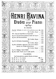 Etudes de Style et de Perfectionnement, Op.14: Nos.1-7 by Jean-Henri Ravina