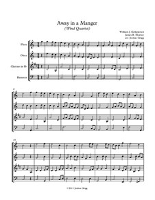 Away in a Manger: Para quarteto de sopro by James R. Murray