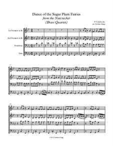 No.3 Dance of the Sugar-Plum Fairy: para quarteto de bronze by Pyotr Tchaikovsky