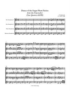 No.3 Dance of the Sugar-Plum Fairy: For sax quartet AATB by Pyotr Tchaikovsky