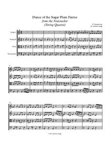 No.3 Dance of the Sugar-Plum Fairy: para quartetos de cordas by Pyotr Tchaikovsky