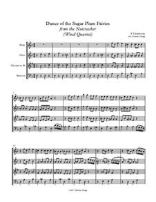 No.3 Dance of the Sugar-Plum Fairy: Para quarteto de sopro by Pyotr Tchaikovsky
