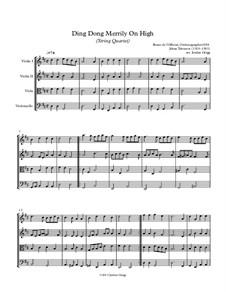 Ding Dong! Merrily on High: para quartetos de cordas by folklore