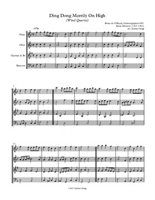 Ding Dong! Merrily on High: Para quarteto de sopro by folklore