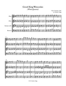 Good King Wenceslas: Para quarteto de sopro by Unknown (works before 1850)