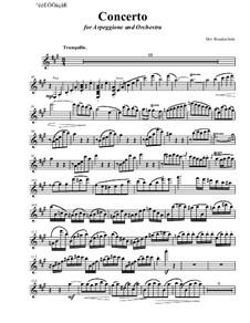 Concerto for arpeggione and orchestra: Arpeggione solo part by Dov Rosenschein