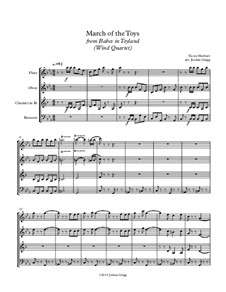 March of the Toys: Para quarteto de sopro by Victor Herbert