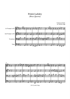 Polish Lullaby: para quarteto de bronze by folklore