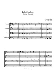 Polish Lullaby: para quartetos de cordas by folklore