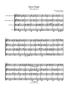 Silent Night (Downloadable): para quarteto de bronze by Franz Xaver Gruber
