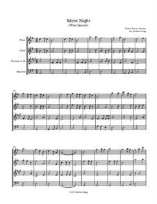 Silent Night (Downloadable): Para quarteto de sopro by Franz Xaver Gruber