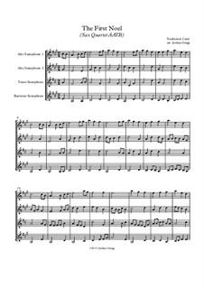 Vocal-instrumental version: For sax quartet AATB by folklore