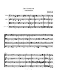 The First Nowell (The First Noël): para quartetos de cordas by folklore