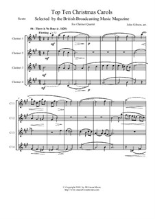 There Is No Rose of Such Virtue: para quarteto de clarinete by folklore