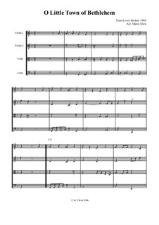 O Little Town of Bethlehem: para quartetos de cordas by Lewis Henry Redner